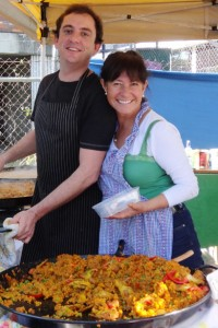 Adam and Patricia at West End Markets