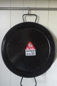 El Cid Enamel 34cm Paella pan