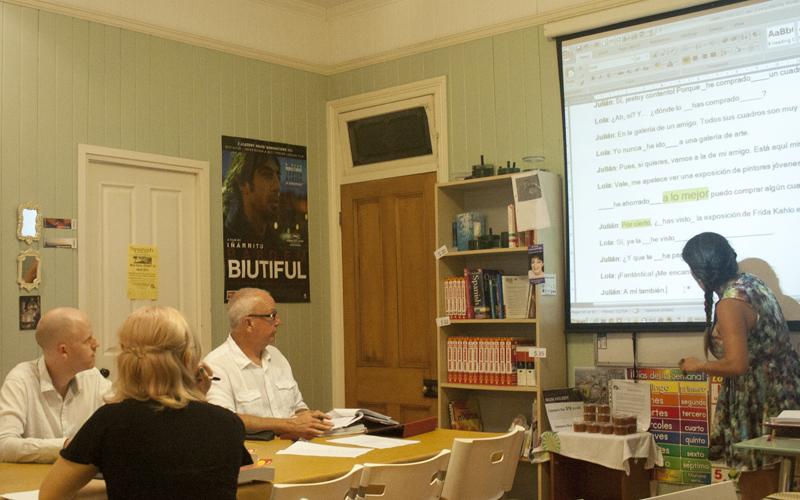 Patricia teaching in class